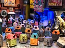 Empire Toy Works 3pc Random Color Scrap-Bot Robot Droid Set