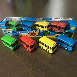 4 PCS The Little Bus TAYO Friends Mini Special Cars Toy Set