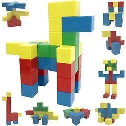 40 Pieces Magnetic Blocks Set 40 Pcs Magnetic Cube Building