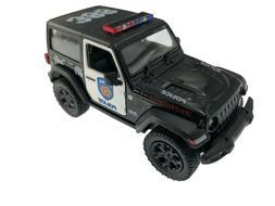 """5"""" Kinsmart 2018 Jeep Wrangler Rubicon Police Diecast Model"""