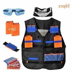 56Pcs Kids Elite Tactical Vest Kit for N-Strike Elite Series