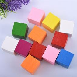 5Pcs/Set Kids Baby Blocks Funny Colorful Wooden Cube Jenga B