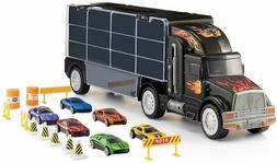 6 Cars Carrier Truck Toy Kids Children Cars Storage Organize