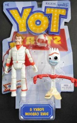 "6"" NEW Toy Story 4 Forky & Duke Caboom Figure Set"