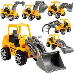 6Pcs Play Vehicles Construction Vehicle Truck Cars Toys Set