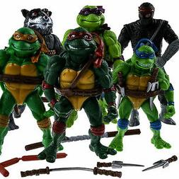 6 PCS Teenage Mutant Ninja Turtles 2nd Action Figures Classi
