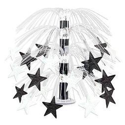 Star Cascade Centerpiece black & white
