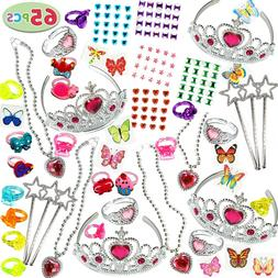 65PCS Jewelry Toys Princess Dress Up Accessories for Girls,P