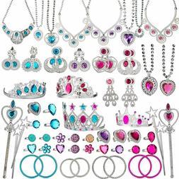 Beyumi 66 Pcs Princess Pretend Jewelry Toy, Girl'S Jewelry