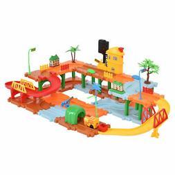 66PCS Plastic Brick Toys Electronic Building Blocks Railway