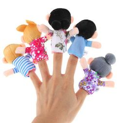 6Pcs Baby Kid Plush Cloth Play Game Learn Story Family Finge