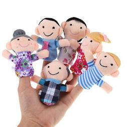 6PCS Baby Kids Plush Play Game Learn Funny Story Family Fing