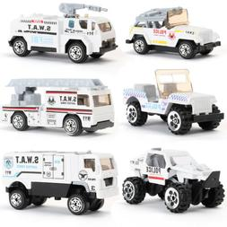 6pcs Diecast Mini Construction Vehicle Engineering Car Dump-