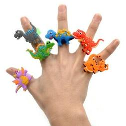 6pcs Dinosaur Ring Sunshade Finger Toys Kids Birthday Party