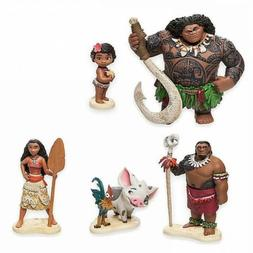 6Pcs Disney Moana Action Figures Doll Kids Figurines Cake To