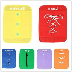 6pcs Early Learning Basic Life Skills Toy Learn to Dress Boa
