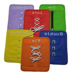 6pcs Montessori Learn to Dress Boards Early Learning Basic L