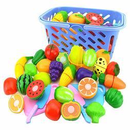 6pcs/set Kid Kitchen Fruit Vegetable Food Pretend Role Play
