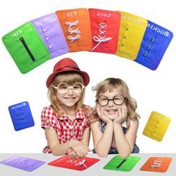 6pcs/Set  Preschool Learn To Dress Board Early Learning Basi