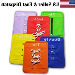 6Pcs Baby Basic Life Skills Toys Learn to Dress Boards Butto
