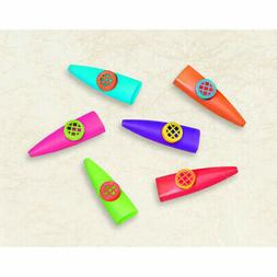 24 Colorful Plastic Kazoos Noisy Party Favors Silly Sounds C