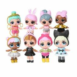 8 Set LOL Surprise Dolls Figures Cake Toppers Toys Gift Acce