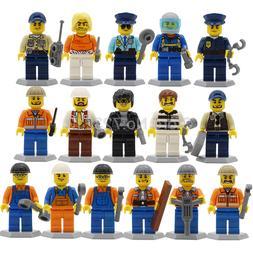 8pcs/16pcs City Figure set Police Construction worker MOC Oc