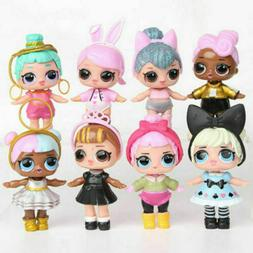 8pcs Set LOL Surprise Dolls Figures Cake Toppers Toys Gift A