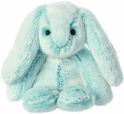 """Aurora 9"""" Paddle Bunny Turquoise Stuffed Animal"""