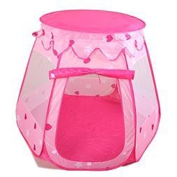 Amtinyjoy Pink Princess Tent Indoor and Outdoor 1-8 Years Ol