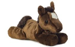 Aurora Plush Chestnut Brown Mini Flopsie Horse 8""