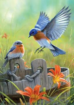 Buffalo Games Large Size Hautman Bluebirds 300 Pieces Jigsaw
