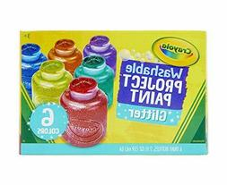 Crayola Washable Glitter Paint Great for Classroom Projects,