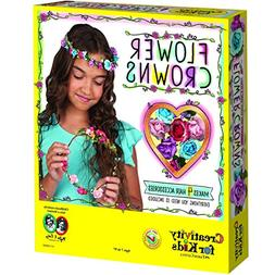 Creativity for Kids Flower Crowns - Hair Accessory Kit for K