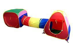 POCO DIVO Cubby-Tube-Teepee 3pc Pop-up Play Tent Children Tu