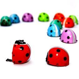 Dazzling Toys Flipping Wind-up Lady Bugs - 12 Pack - Bulk. G