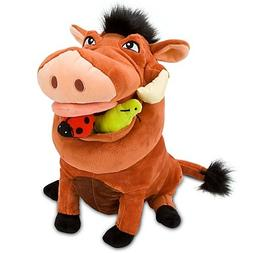 "Disney Store The Lion King 14"" Pumbaa Plush Stuffed Animal T"