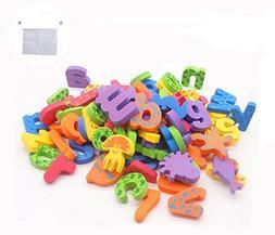 Kids Bath Toys w/Mesh Organizer Bag - Pack of 84 pcs- Baby E
