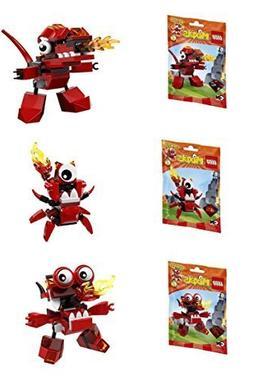 LEGO, Mixels, Series 4 Bundle Set of Infernites, Meltus , Fl