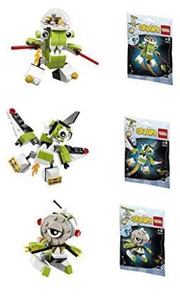 Lego, Mixels Series 4 Bundle Set of Orbitons, Rokit , Nikspu
