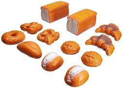 Liberty Imports Life Sized 12 Piece Bread Set Pretend Play T