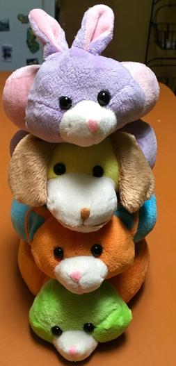 Lot of 4 Stuffed Ring Animals/Plush Toys