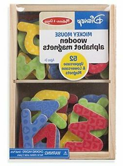 Melissa & Doug Disney Mickey and Friends Wooden Alphabet Mag