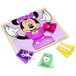 Melissa & Doug Disney Minnie Mouse Wooden Basic Skills Board