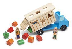 Melissa & Doug Shape-Sorting Wooden Dump Truck Toy, Quality