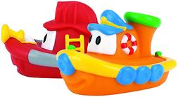 Nuby 2-Pack Tub Tugs Floating Boat Bath Toys, Colors May Var