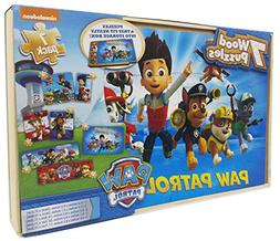 Paw Patrol 7 Wood Puzzles In Wooden Storage Box