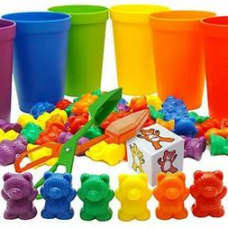 Skoolzy Rainbow Counting Bears with Matching Sorting Cups, B