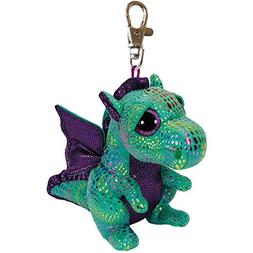 "Ty Beanie Boos Cinder the Green Dragon Clip 3"" Keychain"