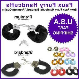 Adult Handcuffs Furry Fuzzy Sexy Slave Hand Ring Ankle Cuffs